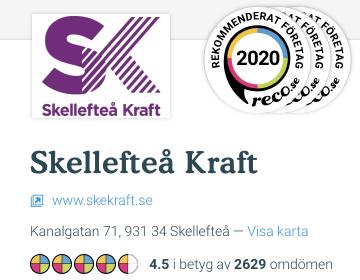 Skellefteå Kraft Betyg hos reco
